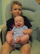 Miles holding Liam