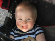 Liam in his stroller