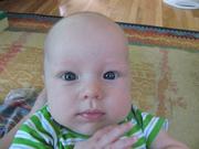 Liam's big blue eyes