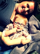 Mommy and Ryker snuggle time