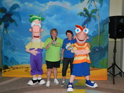 Alice Denger and I with Phineas and Ferb!