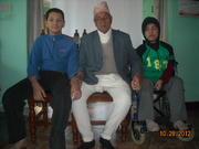 Yugeen and his brother Dristant with their Grand Father !