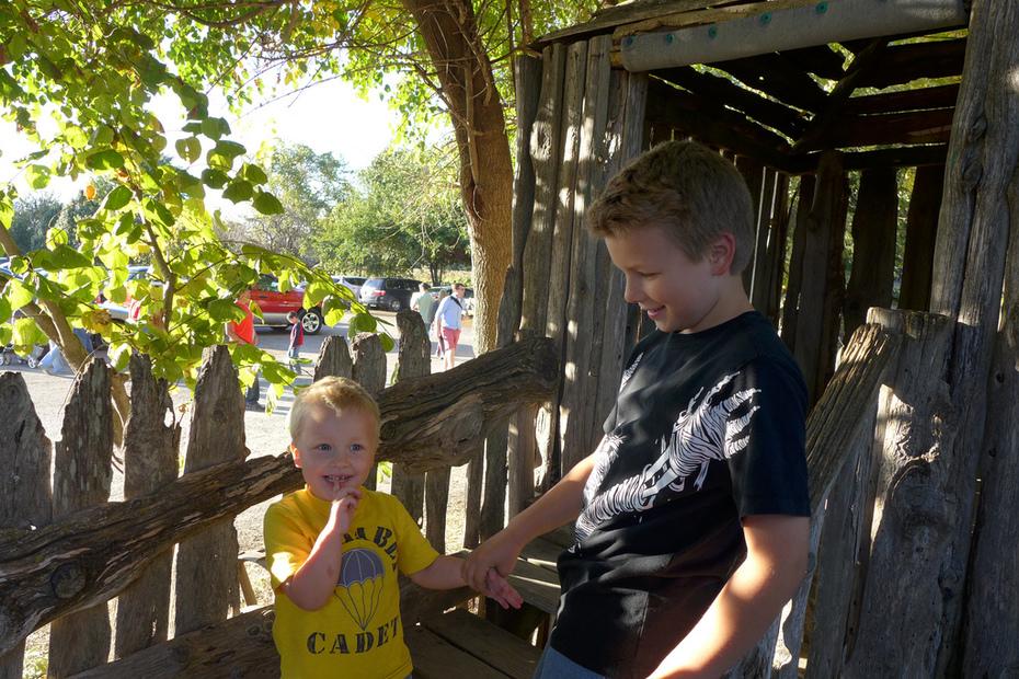 Liam & Miles at Rombach's Farm