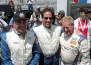 Sam Cabiglio, Jerry Seinfeld, Hurley Haywood at the 2009 Rolex Historic Races in Monterey