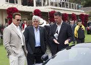 Govenor Schwarzenegger and Jay Lenno Pebble Beach 2010 reviewing the new Porsche 918 Spyder