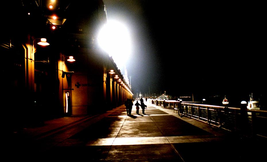 Pac Bell walkway.