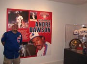 Me: in front of Dawson's exhibit
