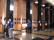 Hall of Fame plaque room hallway