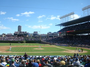 The view from our seats at Wrigley
