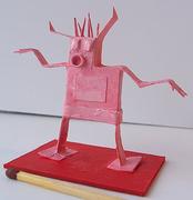 Big horned red devil