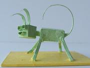 Green cube head ant