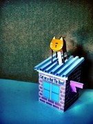 Cat on a Hot Tin Roof by Rob Ives