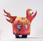 Paper toy Small Ghost with the Mask