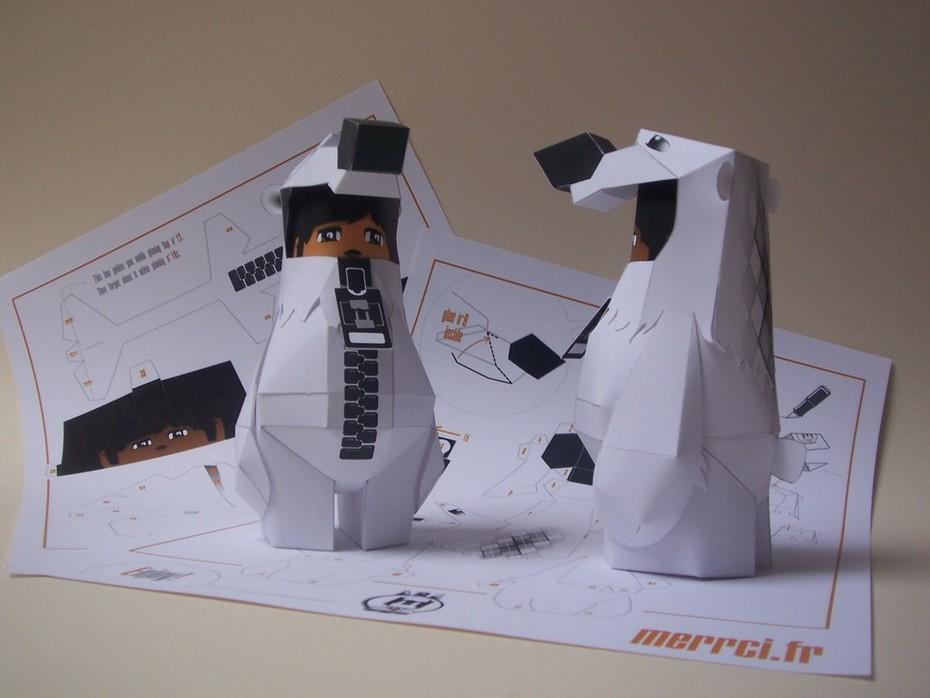 animal suit-polar bear