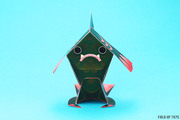 Fingar the fish monster paper toy - Face