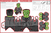 Frankenstein - Paper Toy Printable - Facebook Layout PNG