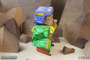 Eternians Man-At-Arms Fan Art Paper Craft Toy - Side
