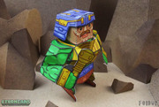 Eternians Man-At-Arms Fan Art Paper Craft Toy - Mace