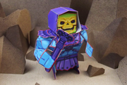 Eternians Skeletor Paper Craft Toy Model - Staff
