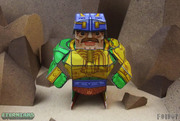 Eternians Man-At-Arms Fan Art Paper Craft Toy - Arms