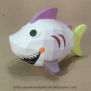 Paper toy de tiburon