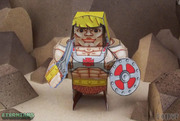 Eternians He-Man Paper Craft Toy Model - Front
