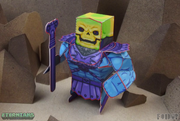 Eternians Skeletor Paper Craft Toy Model - No Hood
