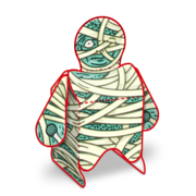 Mummy - Paper Toy Printable - Preview No Background