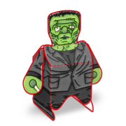 Frankenstein - Paper Toy Printable - Preview No Background