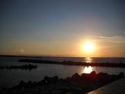 Sunset over Sado Island.