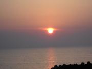 Sunset over cloud covered sado Island.