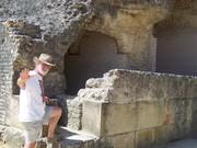 exploring coliseum  at Italica, Spain