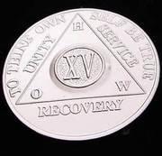 15 year medallion a.a. old school