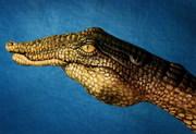 alligator hand art
