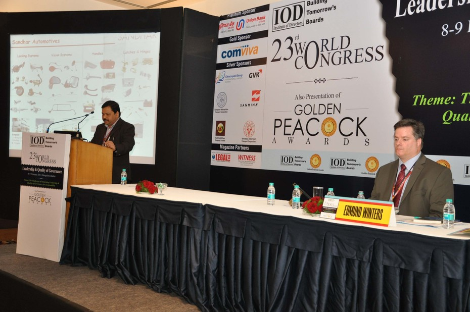 23rd World Congress on Quality and Sustainability India 2013