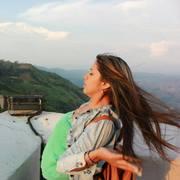 Viviana... turista, desde una de las terrazas del CRisto Redentor