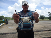 My friend Eric Holds up another Low Country Giant 8/4/2012