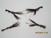 Fly tied brown crawdads
