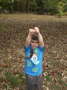 My grandson Bryson landing one of his first bluegills
