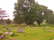 The little Troy Grove Cemetary a block west got it bad