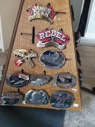 Vintage pewter belts harley Davidson to Hennessey whiskey