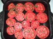 Beefsteak toms ready for baking
