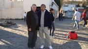 Ernesto Kahan y yo en Colonia del Sacramento