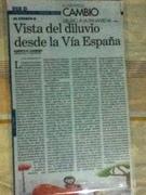 PUBLICACION DE MI RELATO VISTA DEL DILUVIO DESDE LA VIA ESPAÑA EN SUPLEMENTO LITERARIO DOMINNICAL DE DIARIO PANAMEÑO
