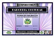 RECONHECIMENTO DE PARCERIA CULTURAL - RONALDO BALBACCH