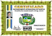 RECONHECIMENTO DE TALENTO ROANALDO BALBACCH