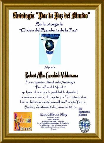 reconocimiento antologia por la paz 2013