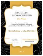 Diploma de Reconocimiento