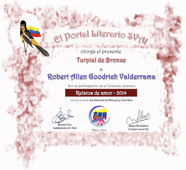RobertAllenGoodrichValderrama turpial de bronce relatos de amor 2014 SVAI