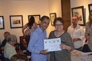 Foto de Dalit R. Escorcia M con, la hermana del Premio Nobel, Aida Garcia Márquez